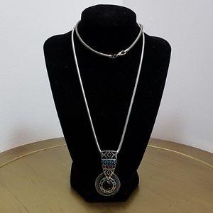 Chicos Silvertone Beades Necklace